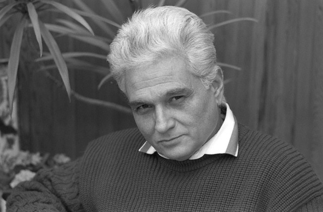 19 Dec 1987, Paris, France --- Influential French philosopher Jacques Derrida (1930- ), founder of the International College of Philosophy, has written , an essay of French poet Francis Ponge. --- Image by © Sophie Bassouls/Sygma/Corbis