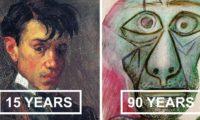 Автопортретите на Пикасо от 15 до 90 годишна възраст