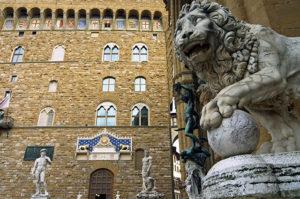 Palazzo Vecchio, Piazza della Signoria, Florence, Tuscany, Italy, Europe, Europe