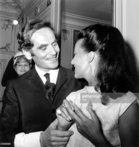 French couturier Pierre Cardin and actress Jeanne Moreau july 31, 1964