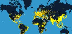Анимация ни показва броя на земното население, през последните 200 000 години