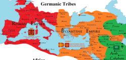 Окончателното разделяне на Римската империя на Източна и Западна