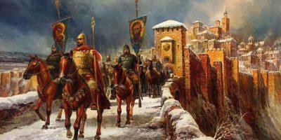 В битката при Адрианопол (Одрин), цар Калоян разгромява рицарите на Латинската империя